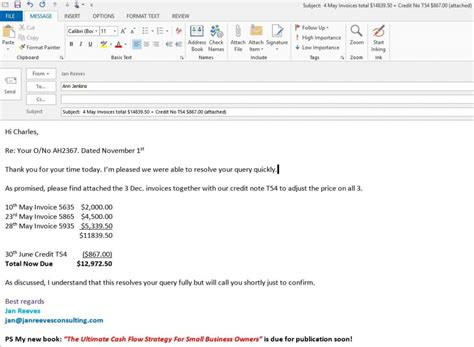Credit Note Email Template 4 Friendly Reminder Email Templates To Get Invoices Paid Your Small Business Coach