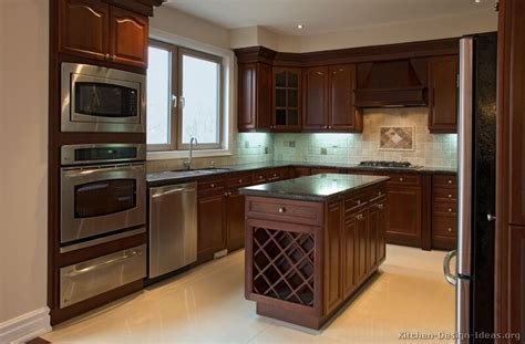 Kitchen Colour Design Ideas Pictures Of Kitchens Traditional Wood Cherry