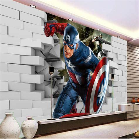 captain america room decor 3d captain america wallpaper photo wallpaper cool wall mural boys room decor club