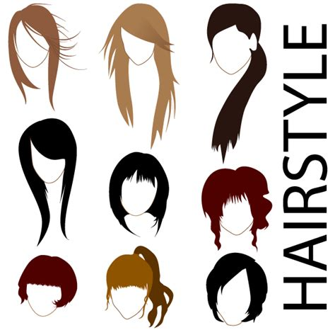 cartoon hairstyles vector free vector hairstyles 123freevectors