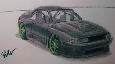 stanced cars drawing subaru svx speed drawing