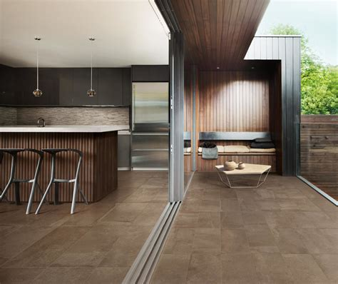 20mm External Porcelain Tiles by Saturn Exterior Peat Brown Porcelain 20mm Terzetto