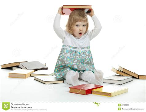 raising royalty books the baby holding a book royalty free stock photos