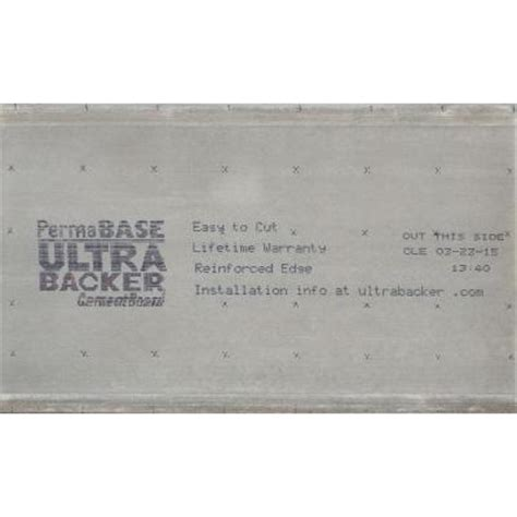 permabase ultrabacker 1 4 in x 3 ft x 5 ft cement board