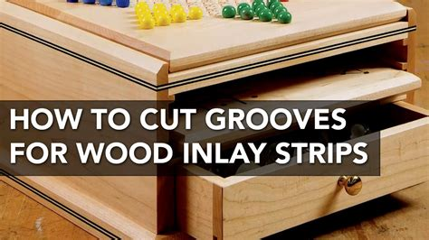 how to use a table saw how to use a table saw to cut grooves for inlay strips