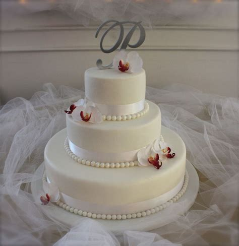 Wedding Cake Simple White by Simple White Wedding Cake Cakecentral