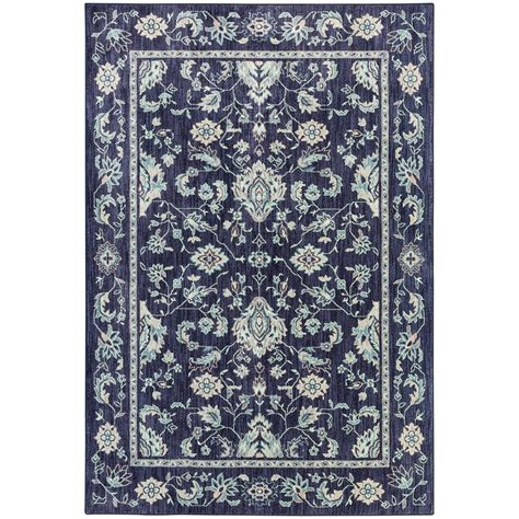 indigo area rug shop mohawk home cascade heights indigo rectangular indoor machine made area rug common