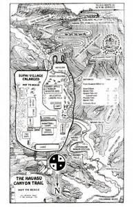 havasu falls arizona map hiking to havasu falls map best route getting to grand