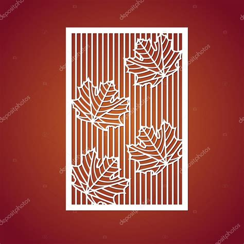 leaf pattern laser cut laser cut vector panel cutout silhouette with botanical