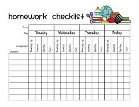 homework template for teachers the world s catalog of ideas