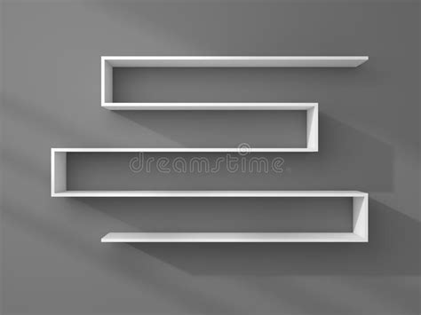 scaffali moderni 3d ha reso gli scaffali moderni illustrazione di stock