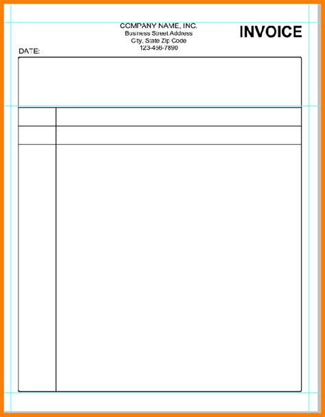 invoice template free printable 11 blank invoice template word lease template
