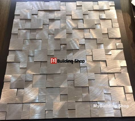 Metal Wall Tiles Kitchen Backsplash Brushed Silver Metal Mosaic Kitchen Wall Tile Backsplash Smmt114 Aluminum Stainless Steel