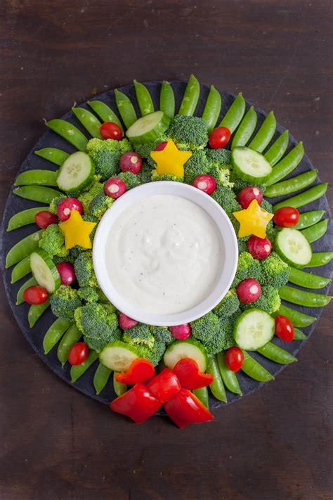 vegetable santa claus platter veggie wreath appetizer richly