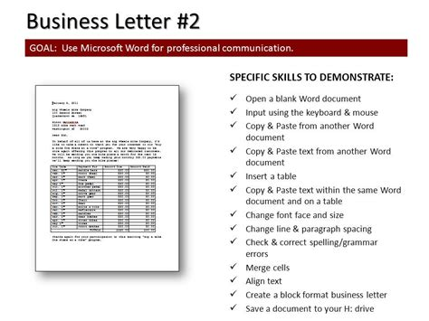 How To Set Up A Business Letter Block Style 7 B Today In Computer Class