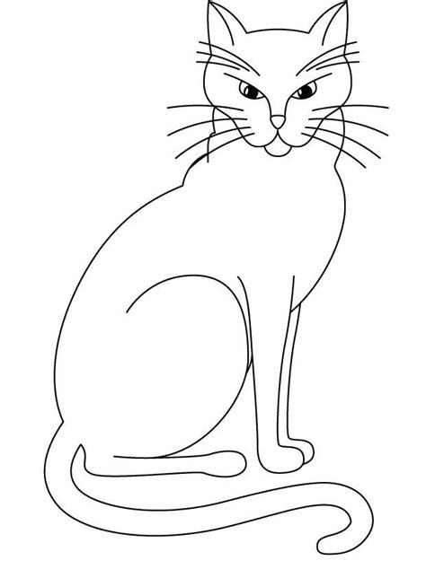 blank cat coloring page free marvel black cat coloring pages