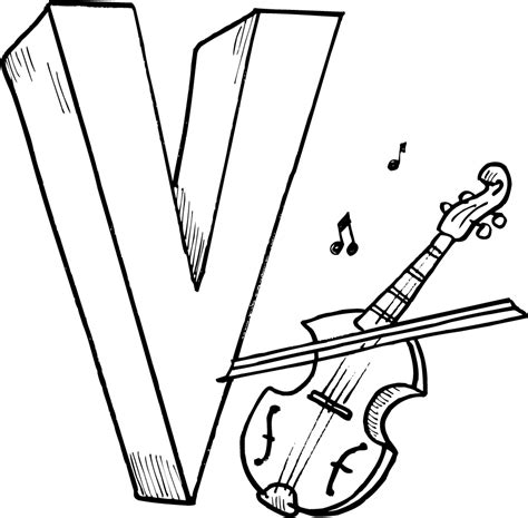 letter v coloring pages printables for kids coloring