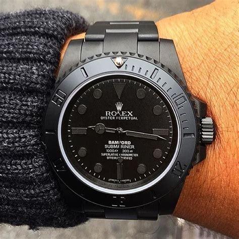 Rolex Matic Sabit Black Gold bespoke bamford matte black mgtc rolex submariner