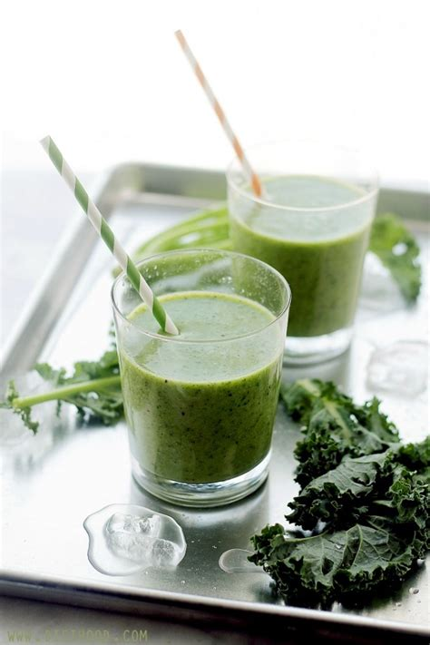 Kale Banana Smoothie Detox by 50 Out Of This World Kale Recipes The Roasted Root