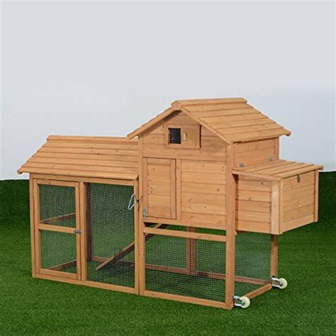 Where To Buy Pawhut Deluxe Portable Backyard Chicken Coop Backyard Chicken Coops For Sale