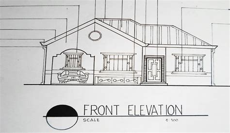 bungalow house sketch design elegant house design front elevation architectural drawing