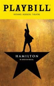 hamilton the musical december 2016 playbill opening