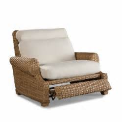 moorings outdoor wicker recliner cuddle chair by wicker