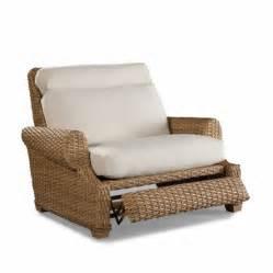 Moorings outdoor wicker recliner cuddle chair by wicker li