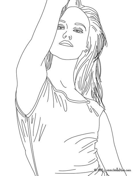 VANESSA PARADIS French Singer Coloring Page sketch template