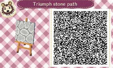acnl qr codes paths acnl stone path qr code animal crossing pinterest