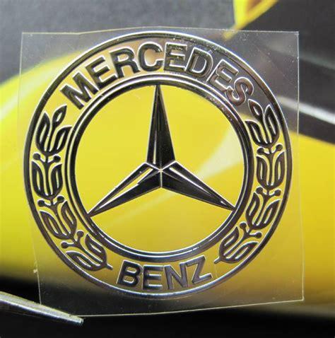 Emblem Metal Sticker Mercedes 5 5 Amg Logo 3d Silver Chrome mercedes nickel metal car mobile emblem thin decal sticker ebay