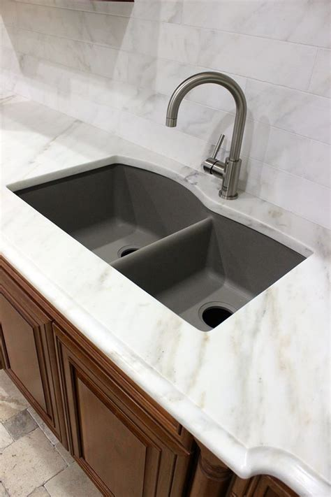 white marble blanco sink granite composite sink remodel kitchen marble granite quartz