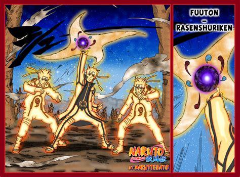 Futon Rasenshuriken by Futon Rasen Shuriken V2 Bijuu Mode Yellow By Naruttebayo67