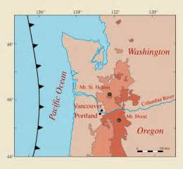 oregon fault lines map earthquake map portland oregon