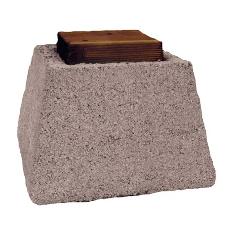 shop basalite pier block with wood cap concrete block
