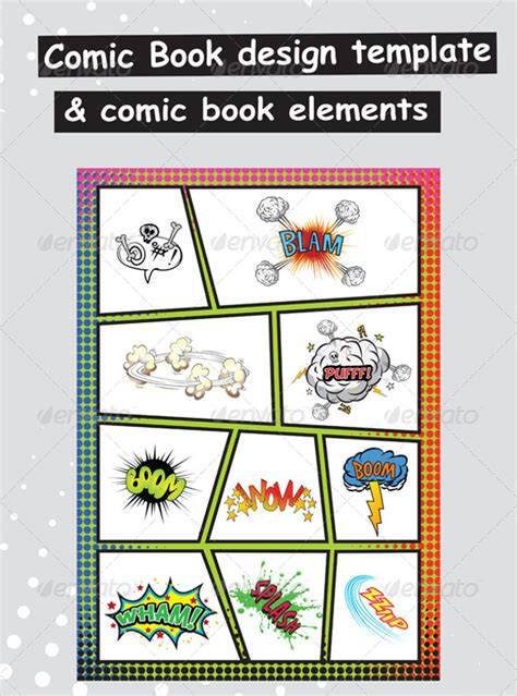 17 comic book templates free psd eps ai format
