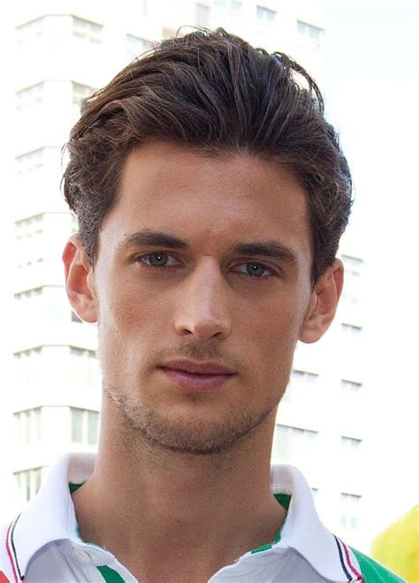 Feathered Brush Back Hair | men s brushed back hairstyles picture gallery