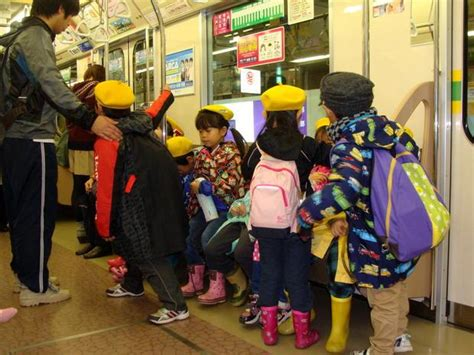 in japan small children take the subway and run errands riding the subways 101 etiquette and skills for