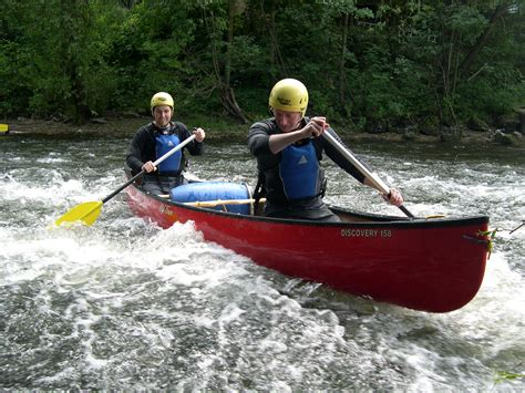 canoes in canoeing kayaking in wales blue mountain activities