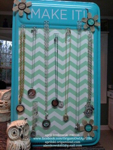 Origami Owl Necklace Display - origami owl display board for my jewelry bars april