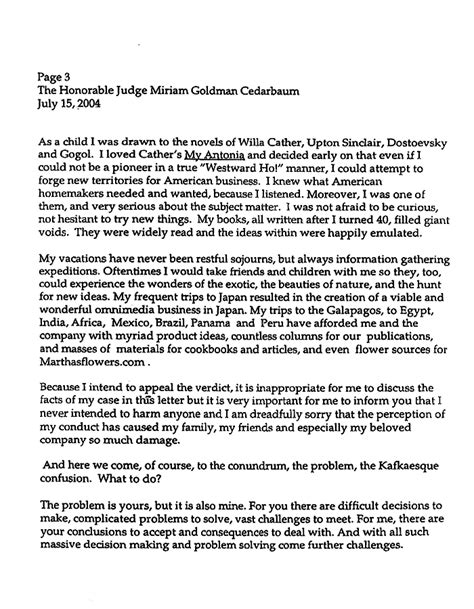 Character Letter Of Support To Judge Sle Stewart S Letter To Judge The Gun