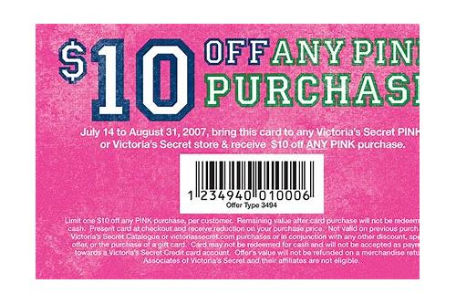 coupons victoria secret pink