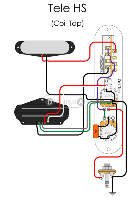 Electric Guitar Wiring Tele Hs Coil Tap Electric
