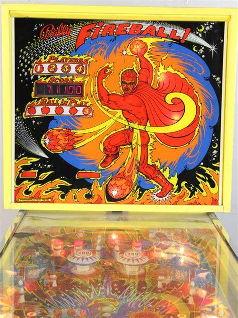 lot detail bally fireball pinball machine