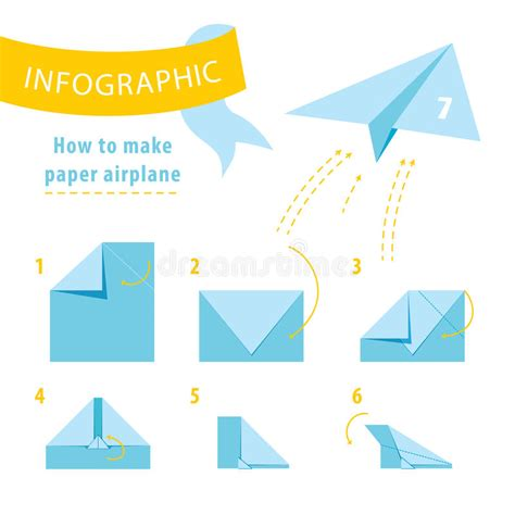 How To Make 50 Paper Airplanes - infographic tutorial how to make paper airplane stock