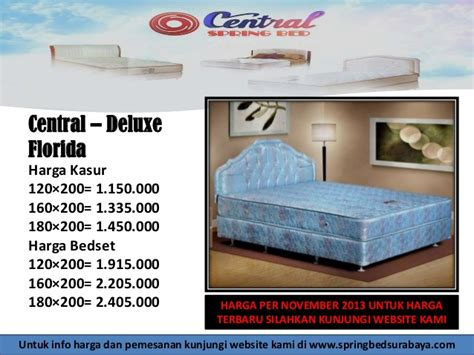 Kasur Central Deluxe 160 harga bed central surabaya