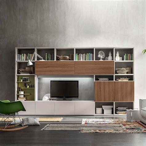 Wall Unit Furniture Free Standing Modern Tv Media Unit Still By Santa Lucia