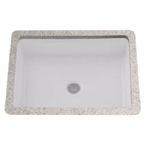toto undermount lavatory sinks toto lt221 01 cotton white rectangular undermount lavatory