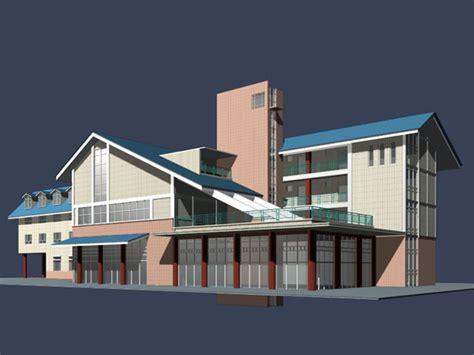 Apartment House Building 3d Model 3dsmax Files Free 3d House Building Free