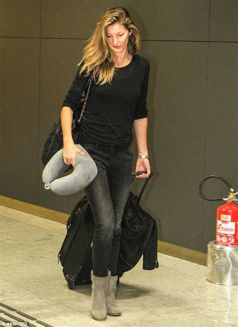 Gisele Does Casual Friday by Gisele Bundchen Models Laid Back Look As She Makes